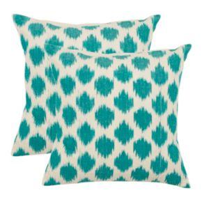 Polka Dot Ikat 2-piece 22'' x 22'' Throw Pillow Set