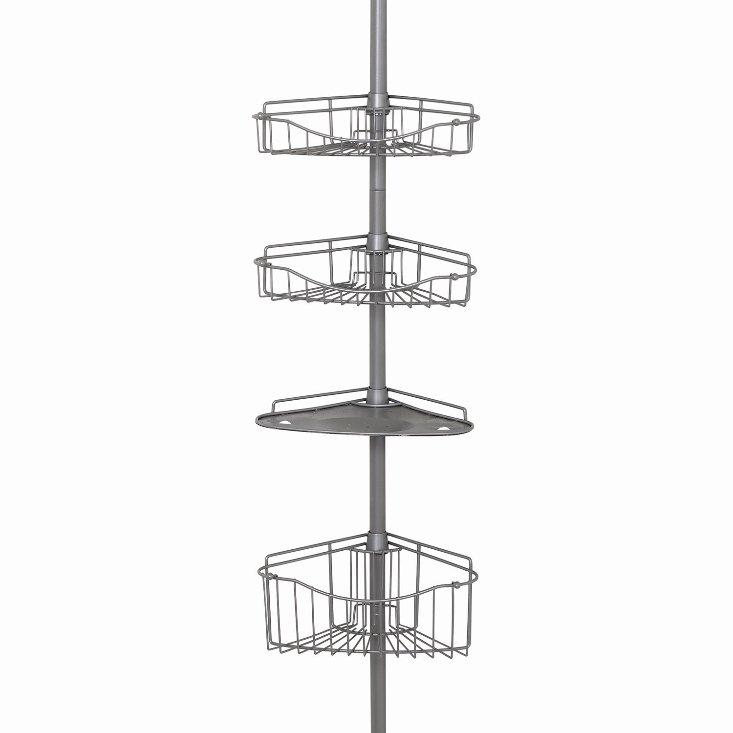 Zenna Home 4 Tier Tension Pole Shower Organizer