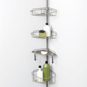 Zenna Home 4-Tier Tension Pole Shower Organizer