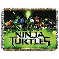 Teenage Mutant Ninja Turtles Movie Poster Tapestry Throw