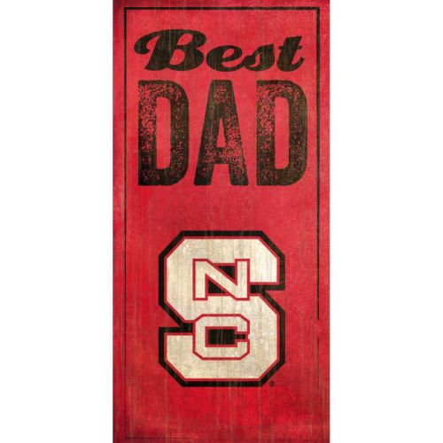 North Carolina State Wolfpack Best Dad Sign