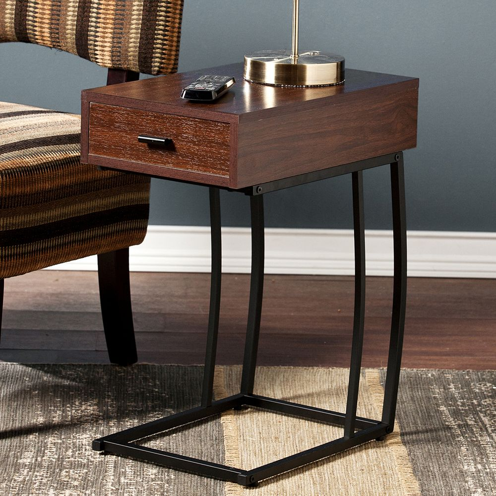 Southern Enterprises Bryson Powered Side Table