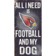 Arizona Cardinals Football and My Dog Sign