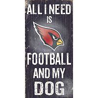 Arizona Cardinals Football and My Dog Sign