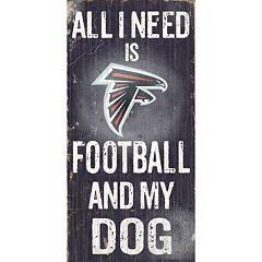 Atlanta Falcons Football and My Dog Sign