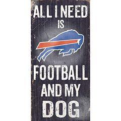 Buffalo Bills Football and My Dog Sign
