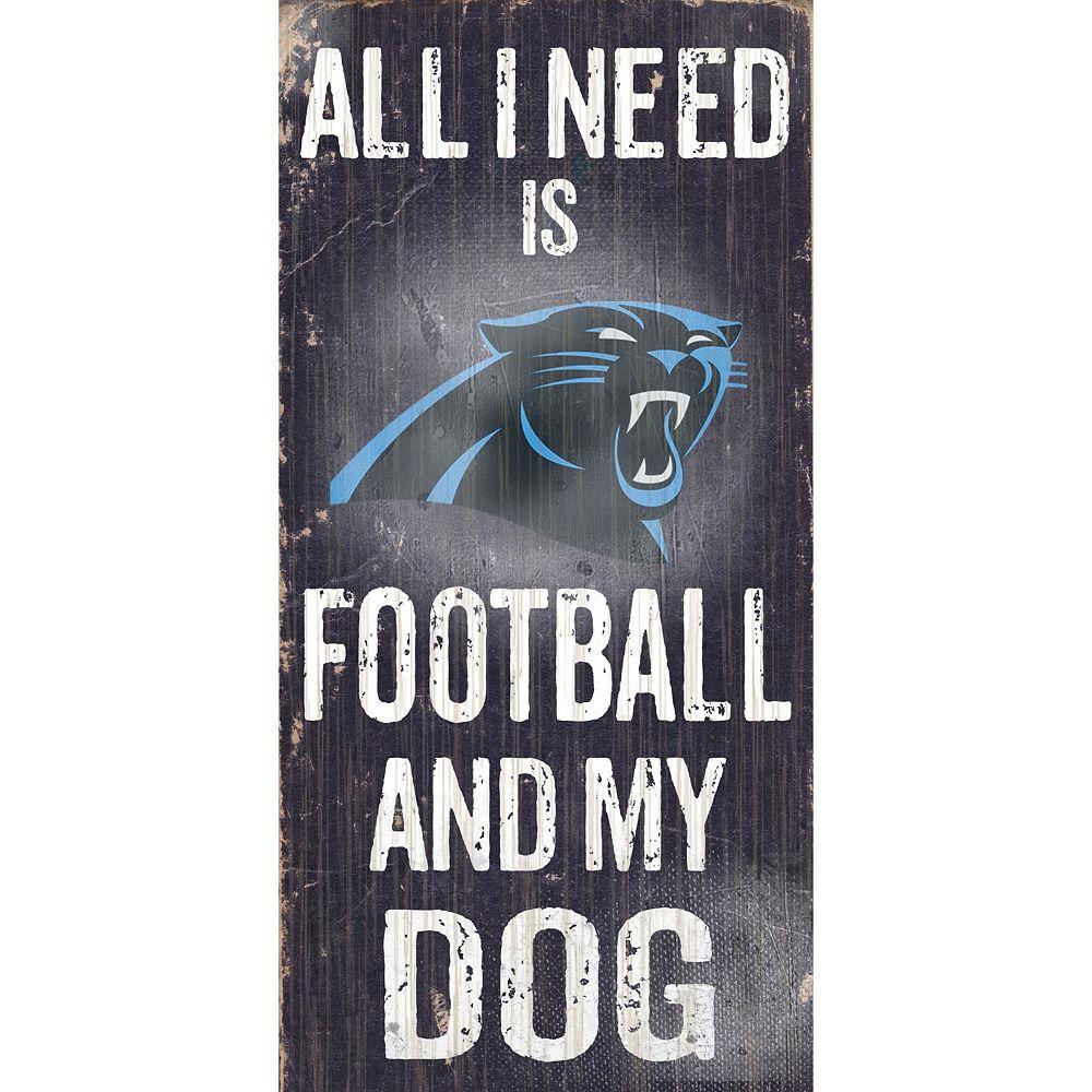 Carolina Panthers Football and My Dog Sign
