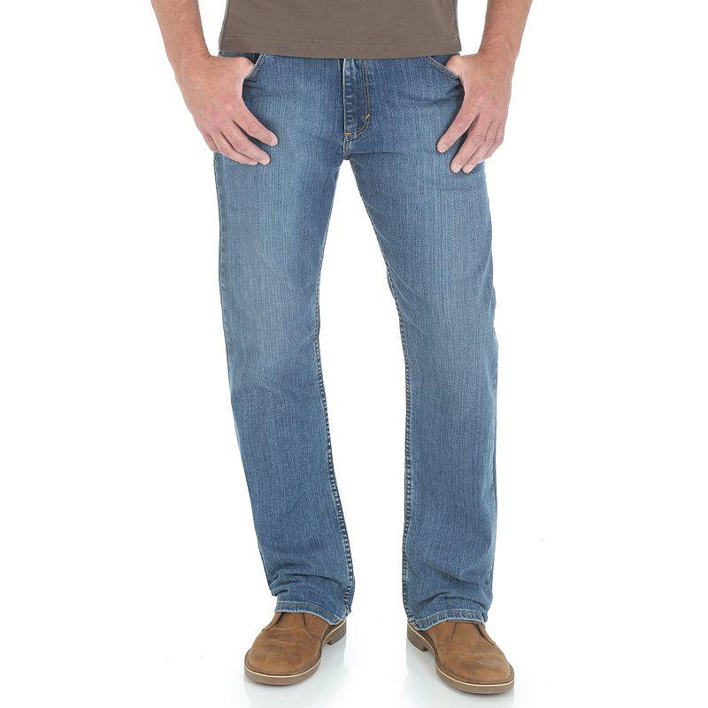 Men's Wrangler Straight-Fit Jeans, Size: 36X30, Blue