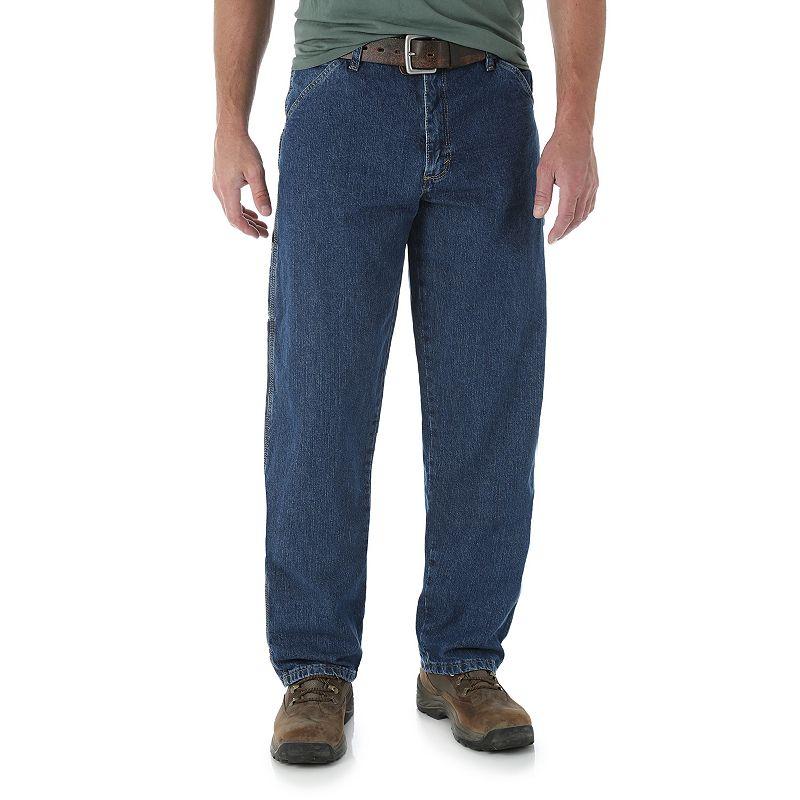 Men's Wrangler Carpenter Jeans, Size: 42X30, Blue
