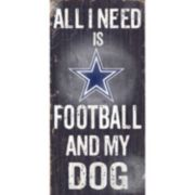 Dallas Cowboys Football and My Dog Sign