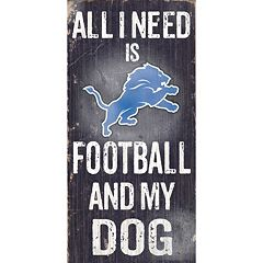Detroit Lions Football and My Dog Sign