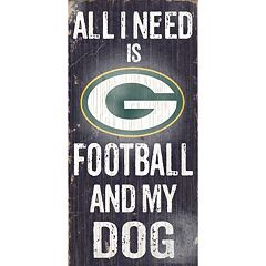 Green Bay Packers Football and My Dog Sign