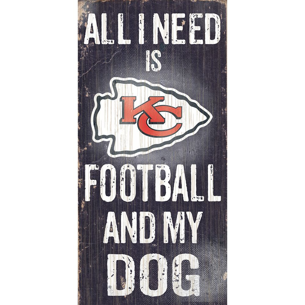 Kansas City Chiefs Football and My Dog Sign