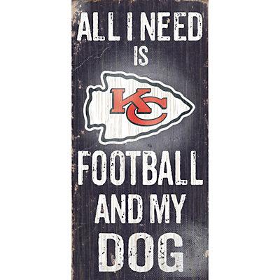 Kansas City Chiefs Football and My Dog Sign