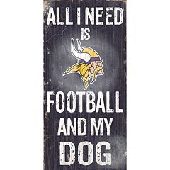 Minnesota Vikings Football and My Dog Sign