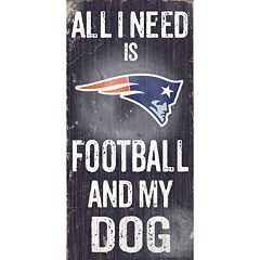 New England Patriots Football and My Dog Sign