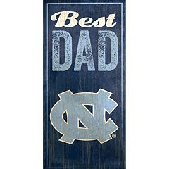 North Carolina Tar Heels Best Dad Sign