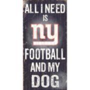 New York Giants Football and My Dog Sign
