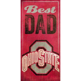 Ohio State Buckeyes Best Dad Sign