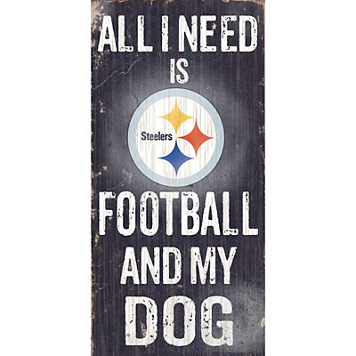 Pittsburgh Steelers Football and My Dog Sign