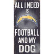 San Diego Chargers Football and My Dog Sign