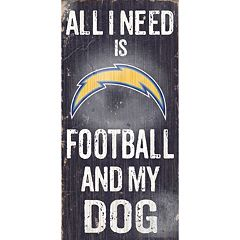 San DiegoChargers Football and My Dog Sign