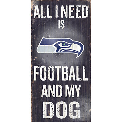Seattle Seahawks Football and My Dog Sign
