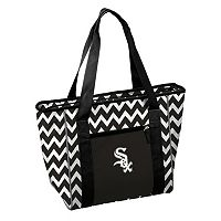 Logo Brand Chicago White Sox 30-Can Chevron Cooler Tote