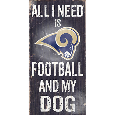 Los Angeles Rams Football and My Dog Sign