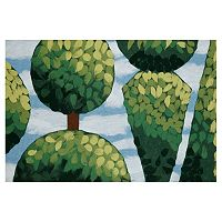 Trans Ocean Imports Liora Manne Visions IV Topiary Doormat - 20'' x 29 1/2''