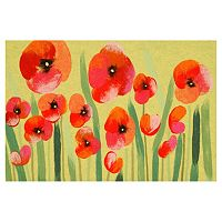 Trans Ocean Imports Liora Manne Visions IV Poppies Doormat - 20'' x 29 1/2''