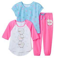 Girls 7-16 SO® Sparkle Counting Sheep Raglan Pajama Set
