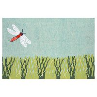 Trans Ocean Imports Liora Manne Visions IV Dragonfly Doormat - 20'' x 29 1/2''