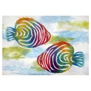 Liora Manne Visions IV Rainbow Fish Doormat - 20'' x 29 1/2''