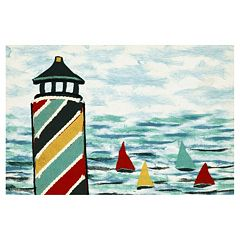 Liora Manne Visions IV Lighthouse Doormat - 20'' x 29 1/2''