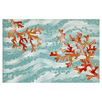Trans Ocean Imports Liora Manne Visions IV Coral Wave Doormat - 20'' x 29 1/2''