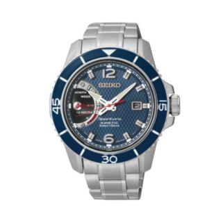 Seiko Men's Sportura Stainless Steel Kinetic Watch - SRG017