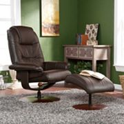 Southern Enterprises Jameson 2 pc Recliner & Ottoman Set