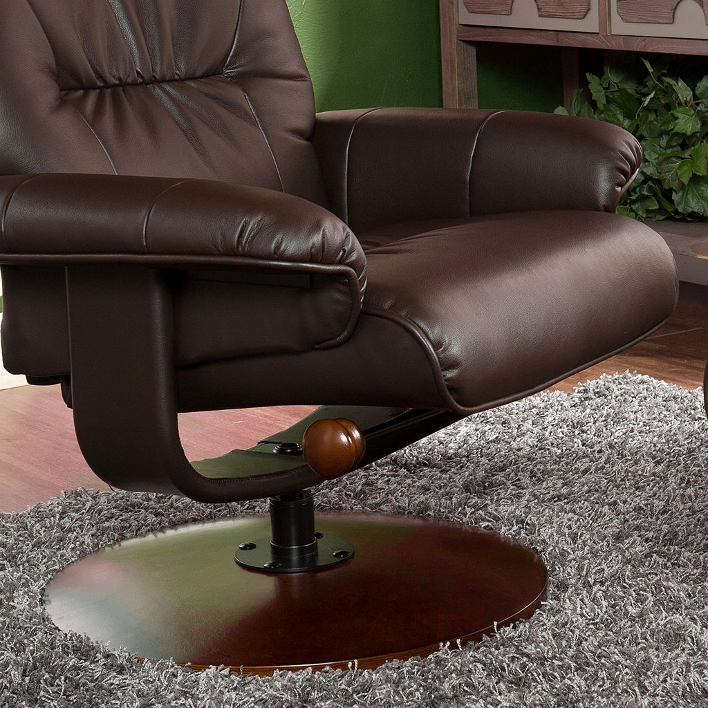 Southern Enterprises Jameson 2-piece Recliner and Ottoman Set