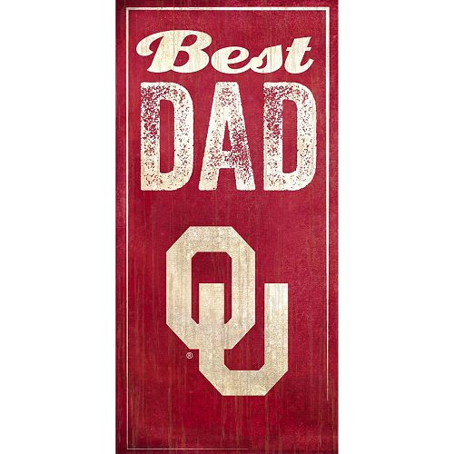 Oklahoma Sooners Best Dad Sign