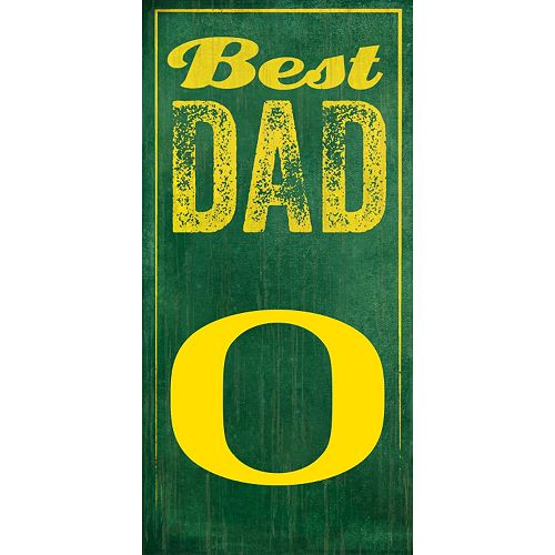 Oregon Ducks Best Dad Sign