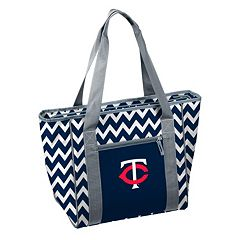 Logo Brand Minnesota Twins 30-Can Chevron Cooler Tote