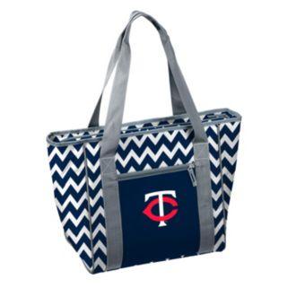 Logo Brand Minnesota Twins 30-Can Chevron Cooler Tote
