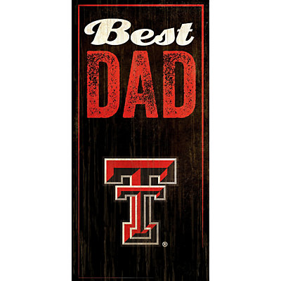 Texas Tech Red Raiders Best Dad Sign