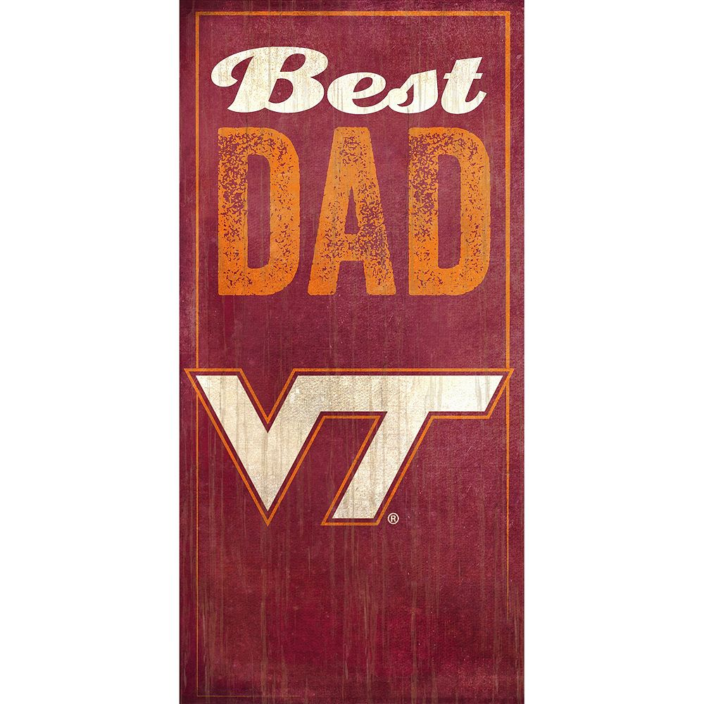 Virginia Tech Hokies Best Dad Sign