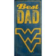 West Virginia Mountaineers Best Dad Sign