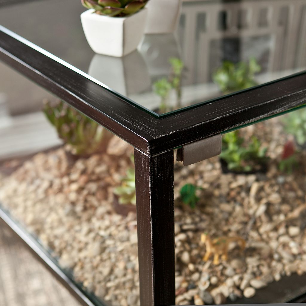 Southern Enterprises Henshaw Terrarium Side Table