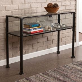Southern Enterprises Henshaw Terrarium Sofa Table