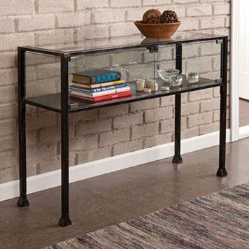 Southern Enterprises Henshaw Terrarium Sofa Table