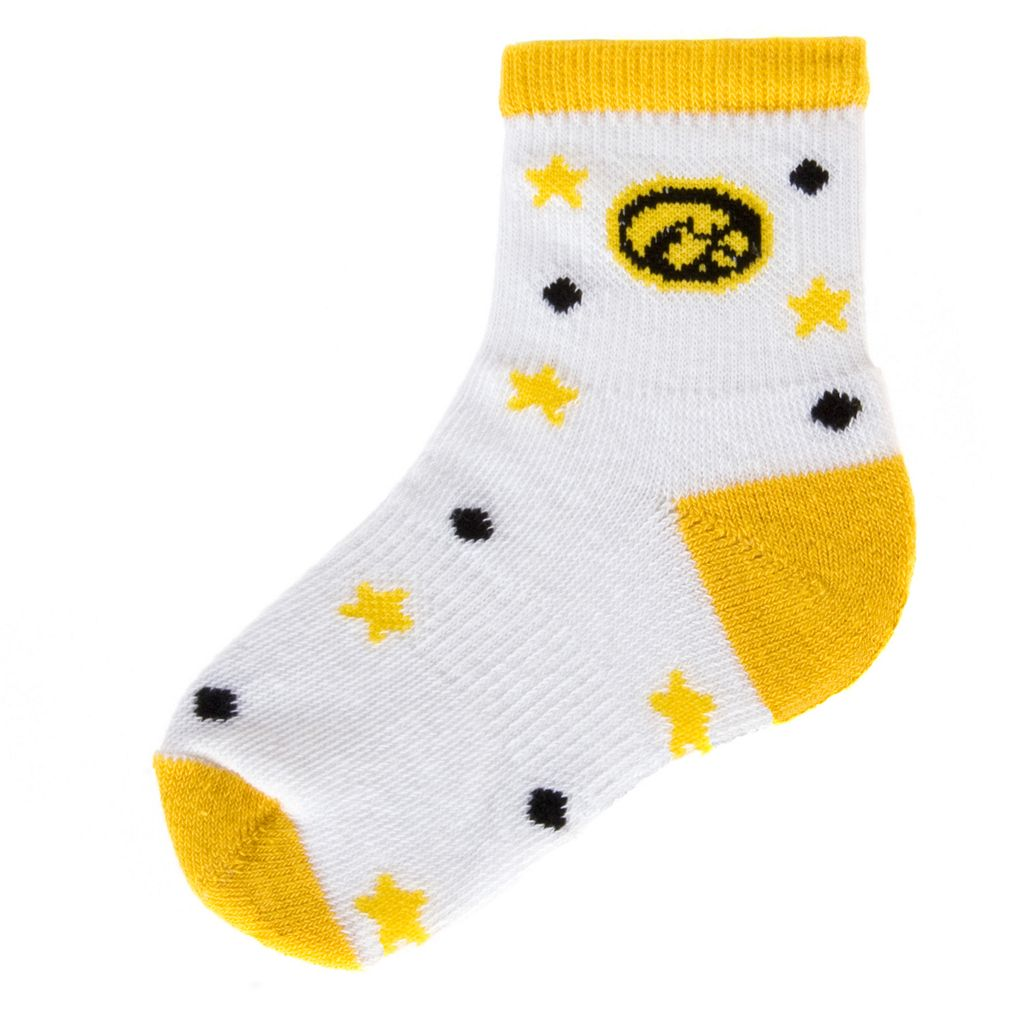 Baby Mojo Iowa Hawkeyes ''I'm a Star'' Cushioned Crew Socks